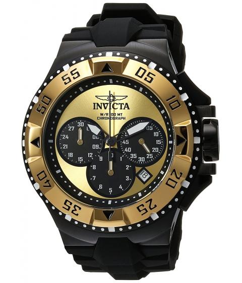 Ceasuri Barbati Invicta Watches Invicta Mens Excursion Quartz Stainless Steel and Silicone Casual Watch ColorBlack (Model 23046) GoldBlack