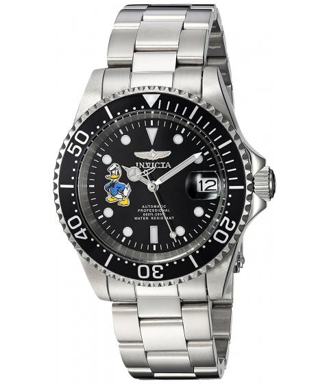 Ceasuri Barbati Invicta Watches Invicta Mens Disney Limited Edition Automatic Stainless Steel Casual Watch ColorSilver-Toned (Model 24396) BlackSilver