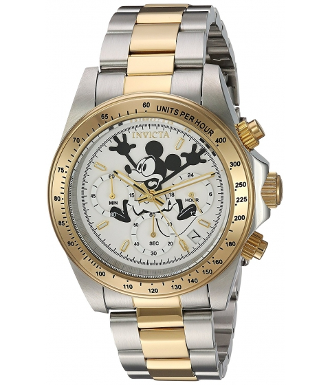 Ceasuri Barbati Invicta Watches Invicta Mens Disney Limited Edition Quartz Stainless Steel Casual Watch ColorTwo Tone (Model 22865) WhiteTwo Tone