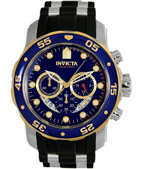 Ceasuri Barbati Invicta Watches Invicta Mens Pro Diver Quartz Stainless Steel and Silicone Casual Watch ColorBlack (Model 22971) BlueBlack