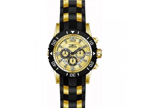 Ceasuri Barbati Invicta Watches Invicta Mens Pro Diver Quartz Stainless Steel and Polyurethane Diving Watch ColorTwo Tone (Model 23705) GoldTwo Tone