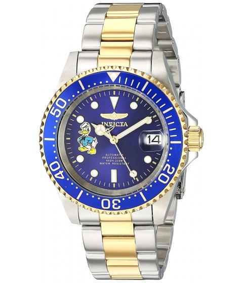 Ceasuri Barbati Invicta Watches Invicta Mens Disney Limited Edition Automatic Stainless Steel Casual Watch ColorTwo Tone (Model 24397) BlueTwo Tone