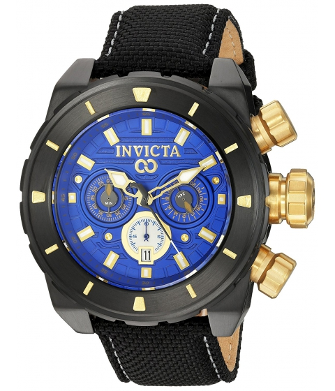 Ceasuri Barbati Invicta Watches Invicta Mens Corduba Quartz Stainless Steel and Nylon Casual Watch ColorBlack (Model 22335) BlueBlack