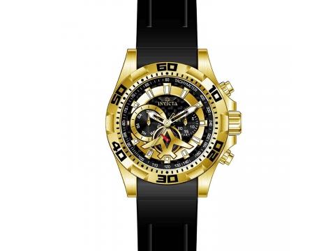 Ceasuri Barbati Invicta Watches Invicta Mens Aviator Black Polyurethane Band Steel Case Quartz Analog Watch 21738 Black Carbon FiberBlack