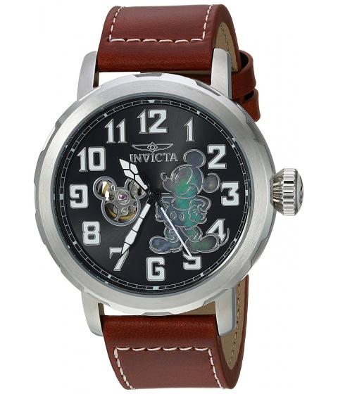Ceasuri Barbati Invicta Watches Invicta Mens Disney Limited Edition Automatic Metal and Leather Casual Watch ColorPurple (Model 23794) BlackPurple