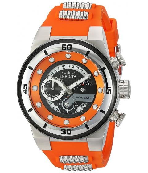Ceasuri Barbati Invicta Watches Invicta Mens S1 Rally Quartz Stainless Steel and Silicone Casual Watch ColorOrange (Model 24222) BlackOrange