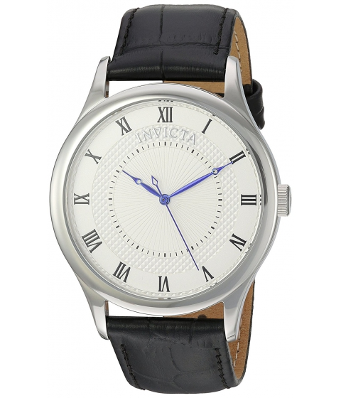 Ceasuri Barbati Invicta Watches Invicta Mens Vintage Swiss Quartz Stainless Steel and Leather Casual Watch ColorBlack (Model 23027) SilverBlack