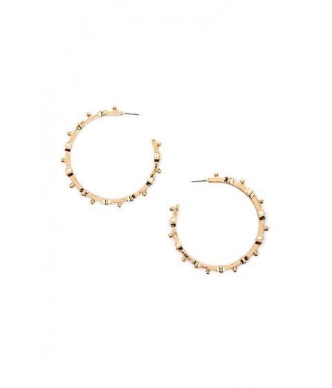 Bijuterii Femei Forever21 Faux Pearl Hoop Earrings Creamgold