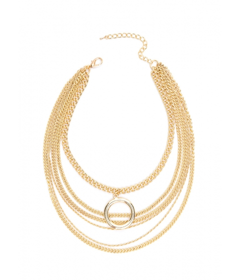 Bijuterii Femei CheapChic Ring Clear Draped Chain Necklace Gold