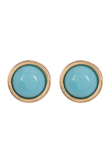 Bijuterii Trina Turk Semi-Precious Cabochon Stud Earrings GOLD-TURQ