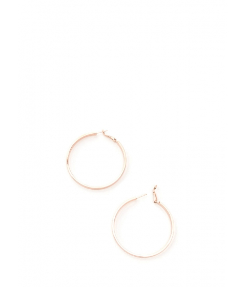 Bijuterii Femei CheapChic In Nothing Flat Band Hoop Earrings Rosegold