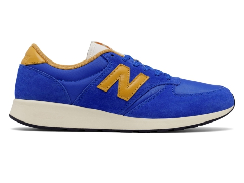 Incaltaminte Barbati New Balance Mens 420 Re-Engineered Suede Blue with Yellow