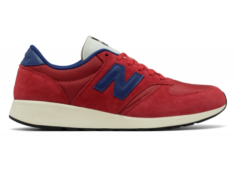 Incaltaminte Barbati New Balance Men's 420 Re-Engineered Suede Red with Blue