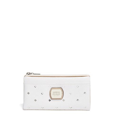 Accesorii Femei GUESS Preston Logo Foldover Wallet white