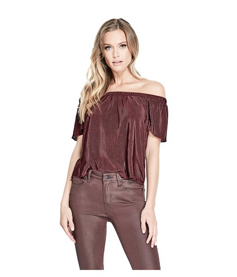 Imbracaminte Femei GUESS Ginger Off-The-Shoulder Top mulberry