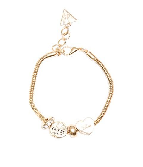 Bijuterii Femei GUESS Gold-Tone Snake Chain Charm Bracelet gold