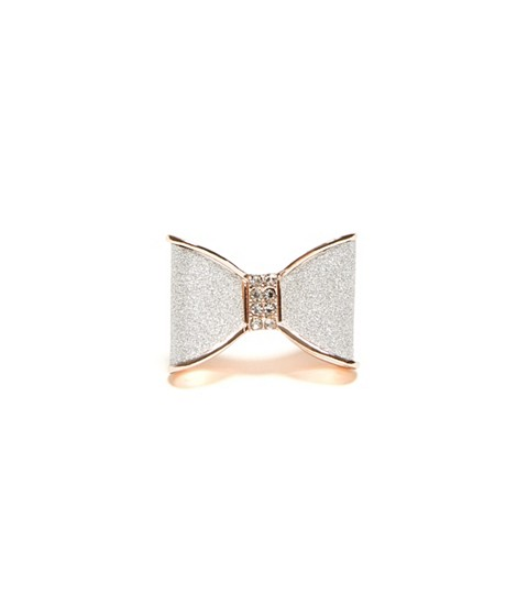 Bijuterii Femei GUESS Rose Gold-Tone and Silver-Tone Bow Ring rose gold