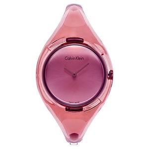 Ceasuri Femei Calvin Klein Pure Pink Dial Ladies Plastic Watch Pink
