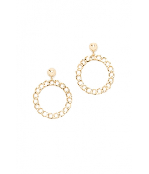 Bijuterii Femei Forever21 Chain Linked Drop Hoop Earrings Gold