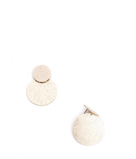 Bijuterii Femei CheapChic Speck Of Truth Double Disc Earrings Gold