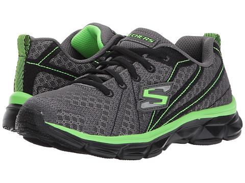Incaltaminte Baieti SKECHERS Advance Lace-Up Sneaker (Little KidBig Kid) CharcoalBlackLime