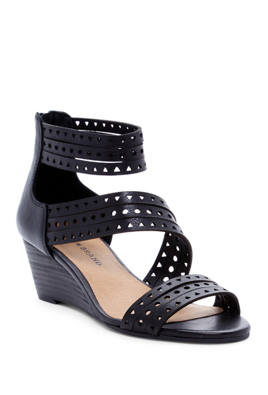 Incaltaminte Femei Lucky Brand Jaleela Wedge Sandal BLACK 02