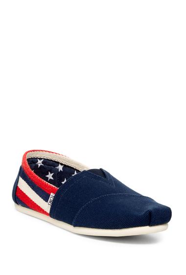 Incaltaminte Barbati TOMS Classic Farren Stripe Slip-On Shoe NAVY