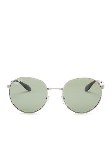 Ochelari Barbati Ray-Ban Mens Metal Round Sunglasses SHINY GUNMETAL