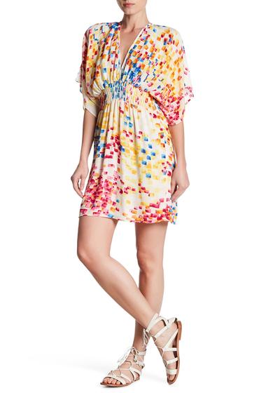 Imbracaminte Femei Love Stitch Multi-Color Smocked Waist Dolman Sleeve Dress NATURAL-MULTI