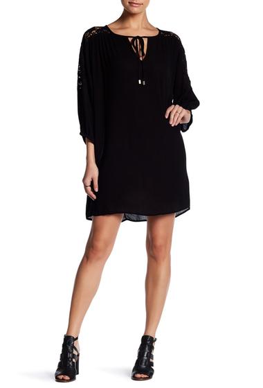 Imbracaminte Femei Love Stitch Lace Inset Tie Dress BLACK