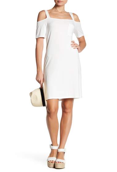 Imbracaminte Femei Splendid Cold Shoulder T-Shirt Dress WHITE