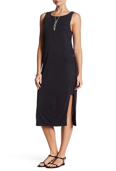 Imbracaminte Femei Splendid Lace Up Rib Knit Dress BLACK