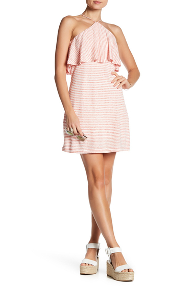 Imbracaminte Femei Splendid Striped Halter Linen Blend Dress WHT-OR PY