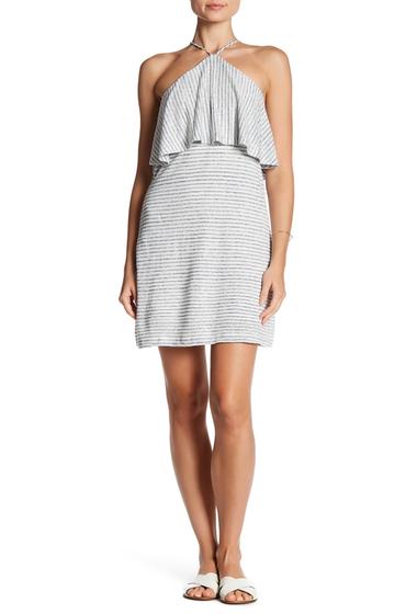 Imbracaminte Femei Splendid Striped Halter Linen Blend Dress WHITE-NAVY