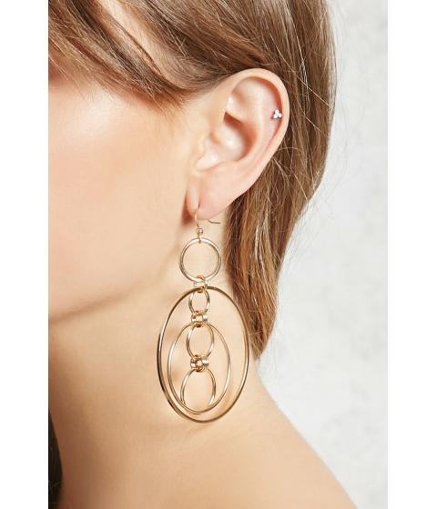 Bijuterii Femei Forever21 Linked Cluster-Hoop Earrings Gold