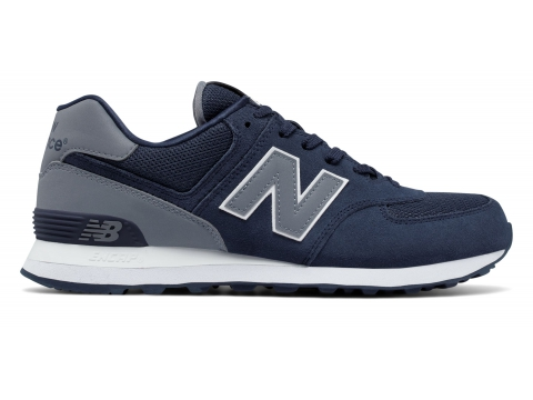 Incaltaminte Barbati New Balance Mens 574 Reflective Navy with Grey
