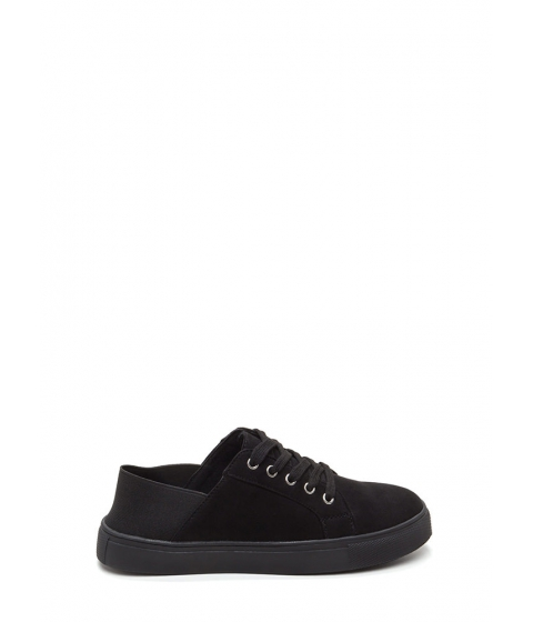 Incaltaminte Femei CheapChic Its A Stretch Faux Suede Sneakers Blackblack