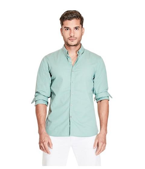 Imbracaminte Barbati GUESS Agustin Printed Shirt teal blue