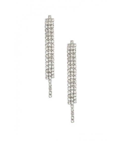 Bijuterii Femei Forever21 Rhinestone Drop Earrings Silverclear