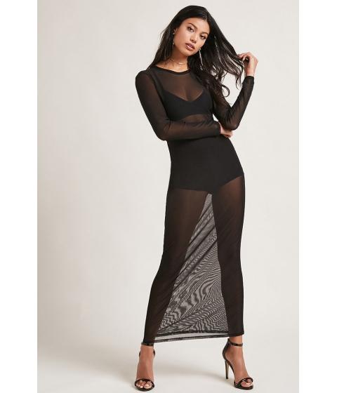 Imbracaminte Femei Forever21 Sheer Mesh Maxi Dress Black