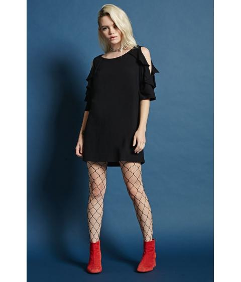 Imbracaminte Femei Forever21 Open-Shoulder Ruffle Dress Black
