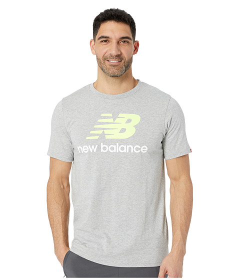 Imbracaminte Barbati New Balance Essentials Stacked Logo Tee Athletic Grey Multi