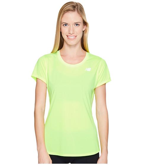 Imbracaminte Femei New Balance Accelerate Short Sleeve Bleached Lime Glo
