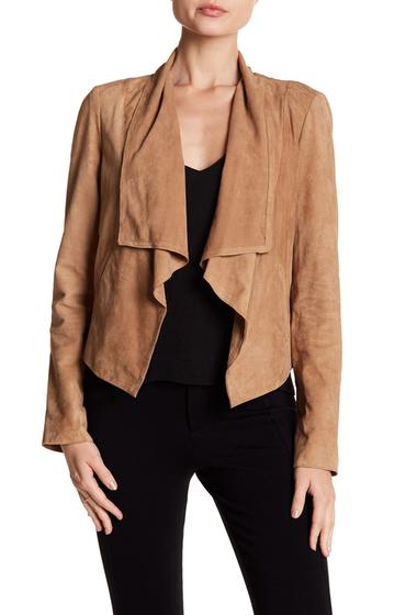 Imbracaminte Femei Cole Haan Suede Open Front Jacket TAN