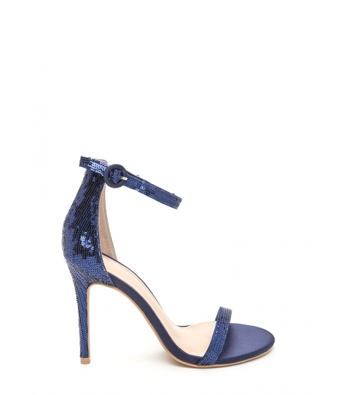 Incaltaminte Femei CheapChic Fancy Footwork Strappy Sequined Heels Blue