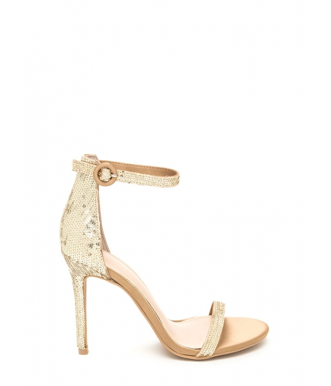 Incaltaminte Femei CheapChic Fancy Footwork Strappy Sequined Heels Gold