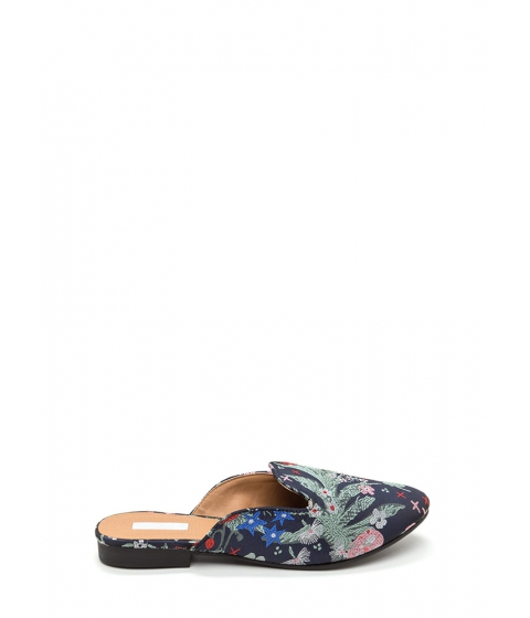Incaltaminte Femei CheapChic Floral Flow Embroidered Mule Flats Navymulti