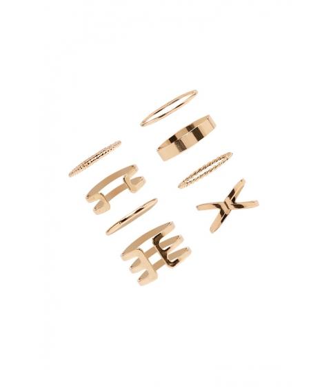 Bijuterii Femei Forever21 Cutout Stackable Ring Set Gold
