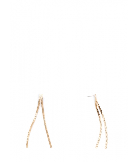 Bijuterii Femei CheapChic For A Chain-ge Skinny Earrings Gold