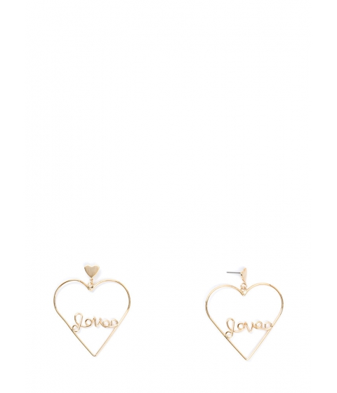 Bijuterii Femei CheapChic Love Myself Heart Statement Earrings Gold